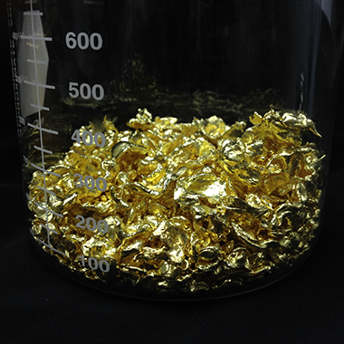 Assaying Gold granules at Fort Kobbe Vaults Panama